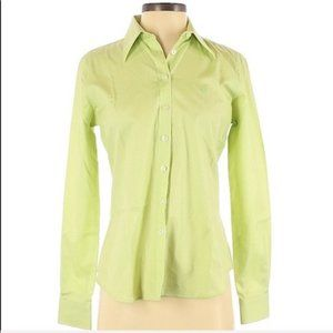 Lilly Pulitzer Button Down Oxford Green Like New 4
